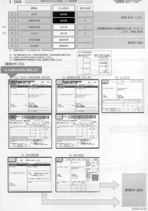 データ 通関 国際 郵便 電子