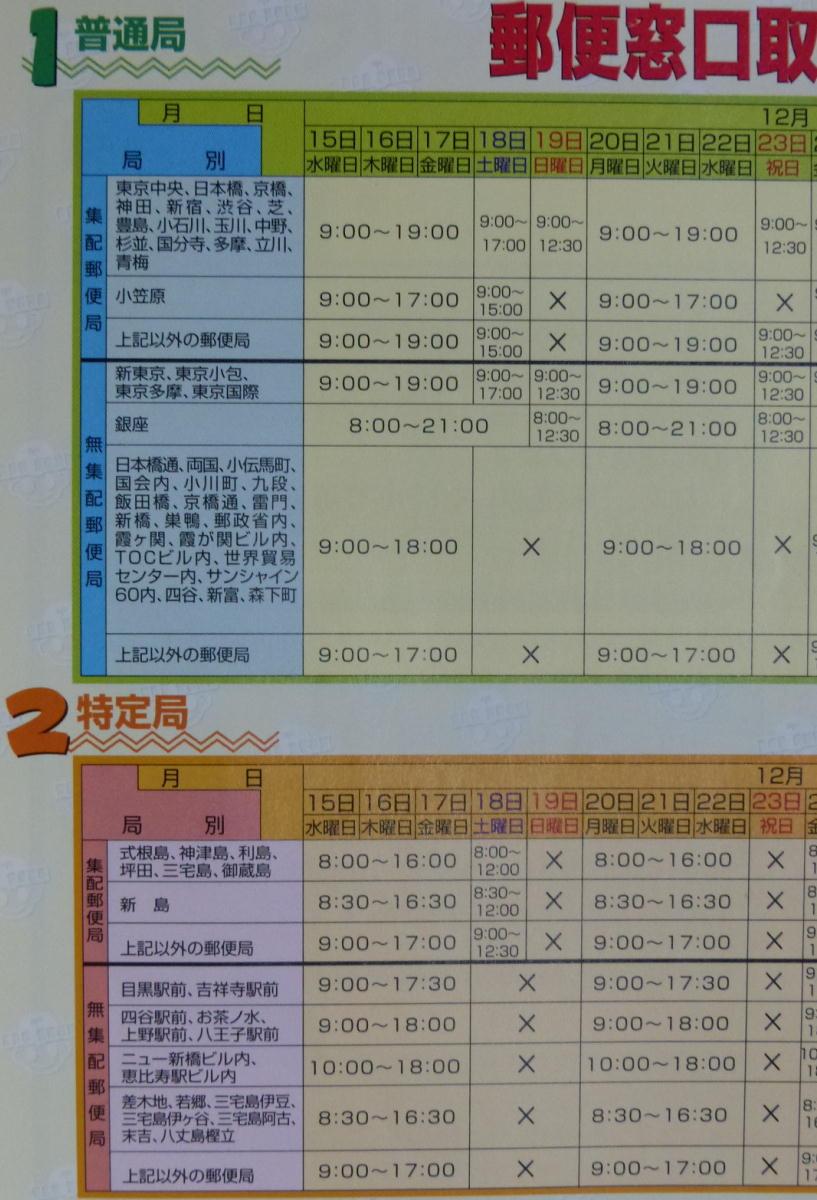 京橋 郵便 局 営業 時間